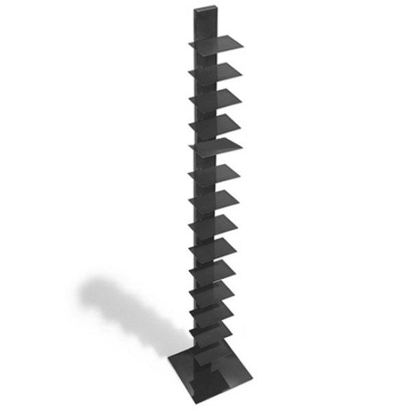 altezza 202 cm Sintesi Sapiens Libreria verticale colore: Grigio scuro