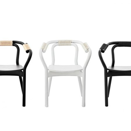 KNOT CHAIR nera naturale