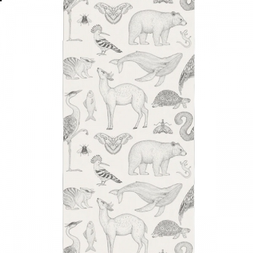 CARTA DA PARATI KATIE SCOTT ANIMALS bianco