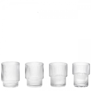RIPPLE  GLASSES (set di 4 bicchieri)