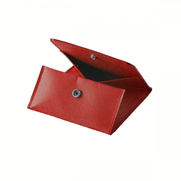 COIN PURSE WITH BOTTON rosso