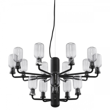 AMP CHANDELIER SMALL nero fumè