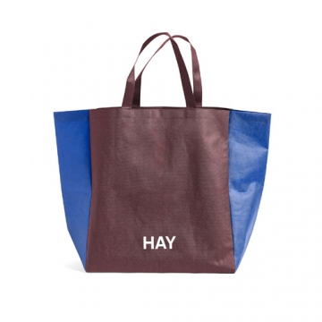 SHOPPING BAG two Tones burgundy