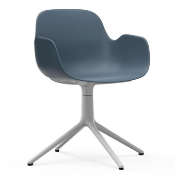 FORM Swivel armchair blu bianco