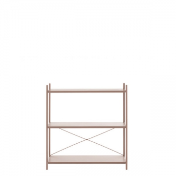 PUNCTUAL SHELVING SYSTEM 1x3 cashmere