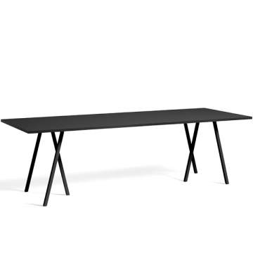 LOOP STAND TABLE 250 nero