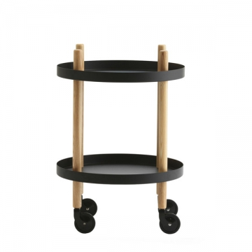 BLOCK TABLE tondo nero