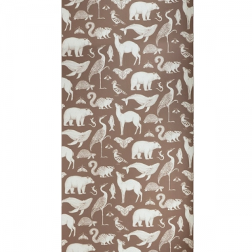 CARTA DA PARATI KATIE SCOTT ANIMALS marrone caramello