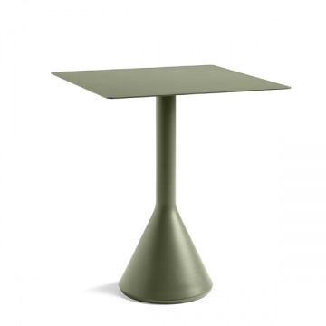 PALISSADE cone table 65x65 oliva